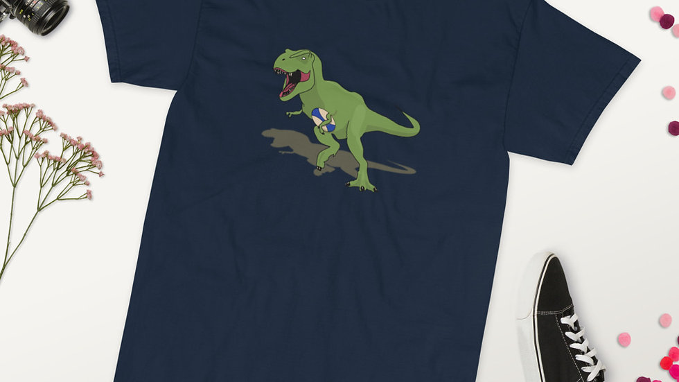 Rugby TRex Big and Tall Short Sleeve T-Shirt