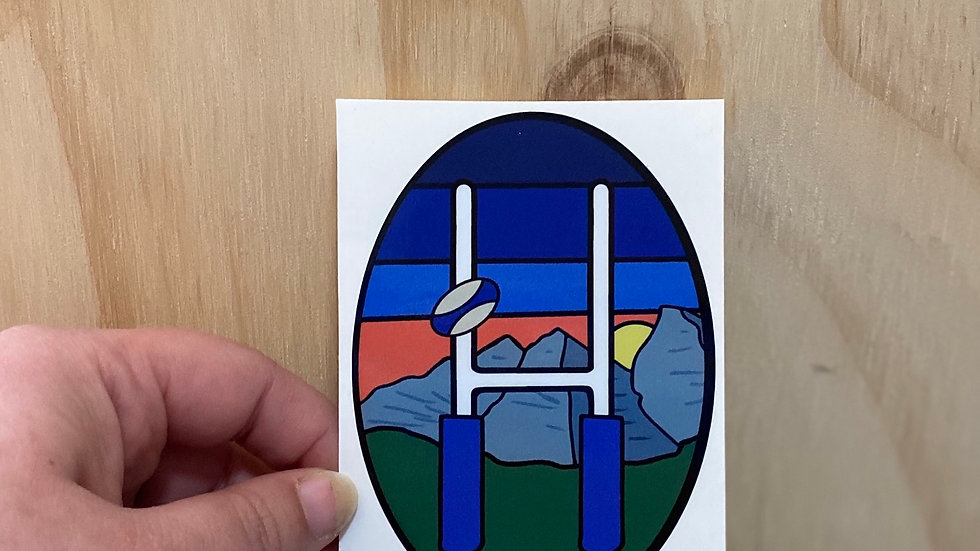Rugby Travel Sticker - Mountains