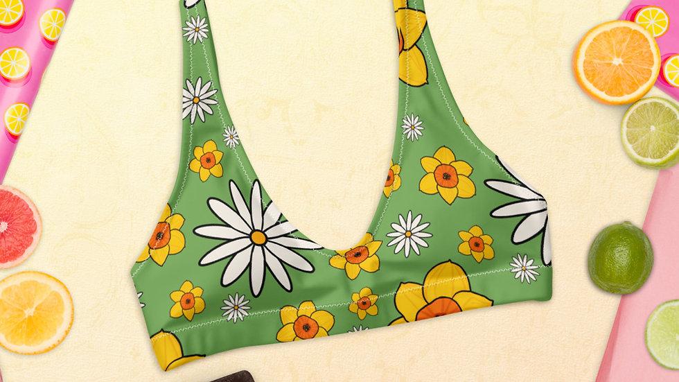Daisy and Daffodil Recyled padded bikini top