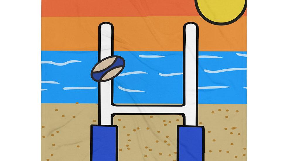 Rugby Beach Throw Blanket