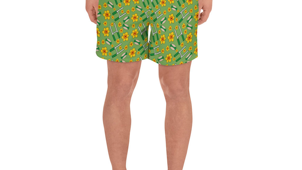 Rugby and Daffodils Men's Athletic Long Shorts