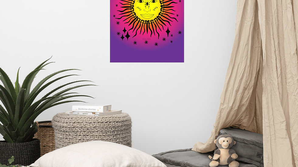 Sun and Stars Poster