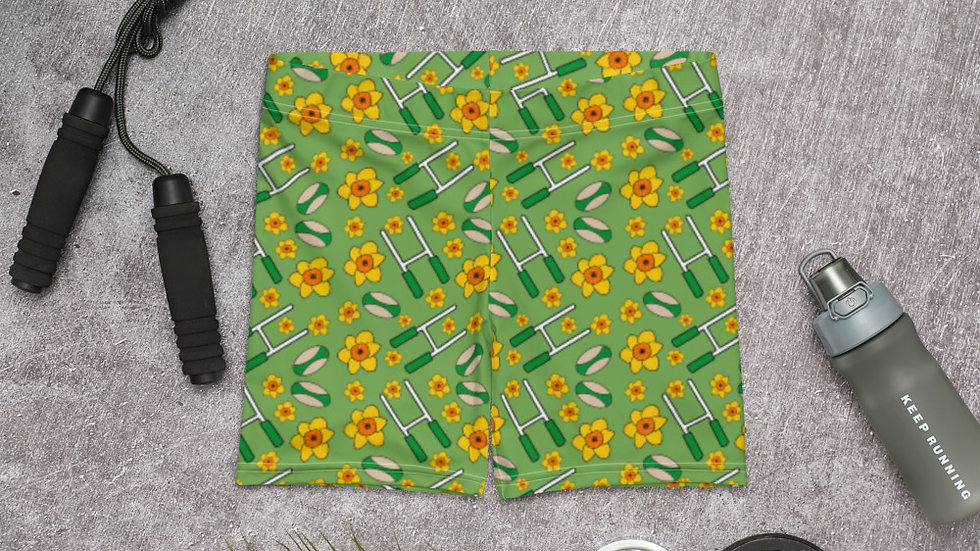 Daffodil and Rugby Spandex Shorts