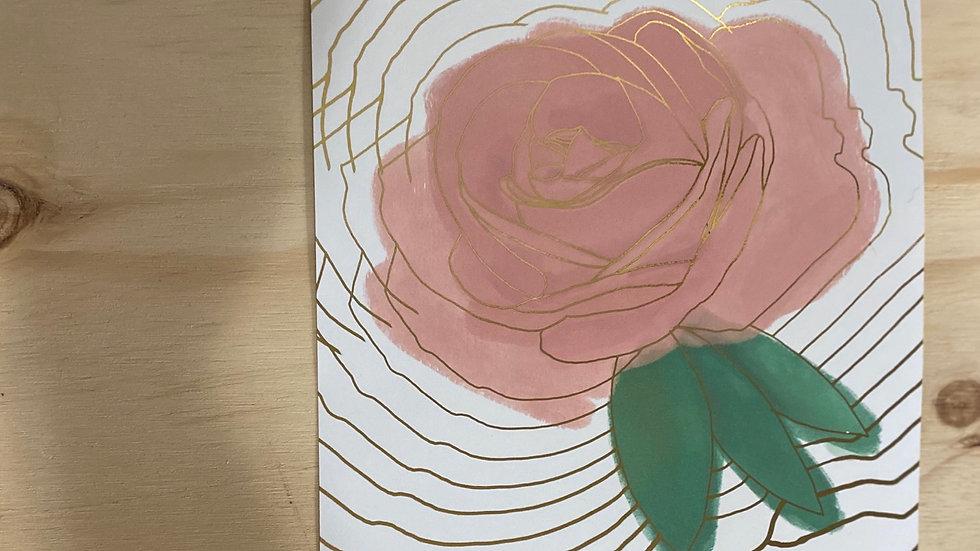 Floral Rose Gauche Foil Detail Print