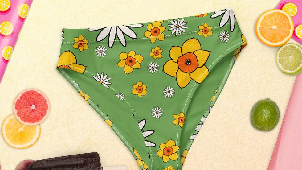 Daisy and Daffodil Recycled high-waisted bikini bottom