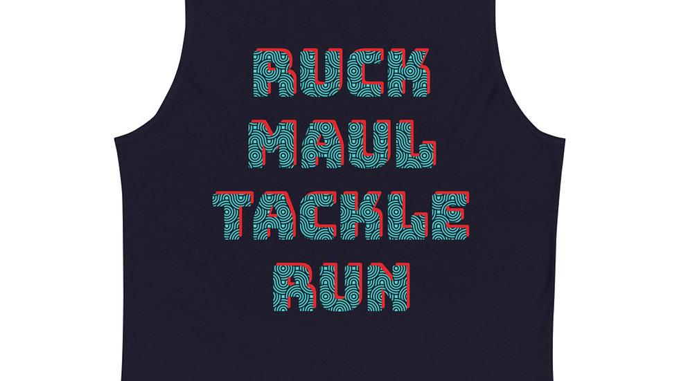 Ruck Maul Tackle Run A Woman's Work Muscle Shirt