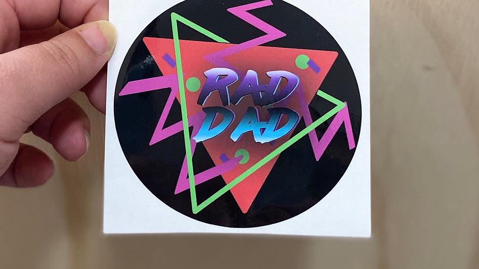 Rad Dad Father's Day Sticker