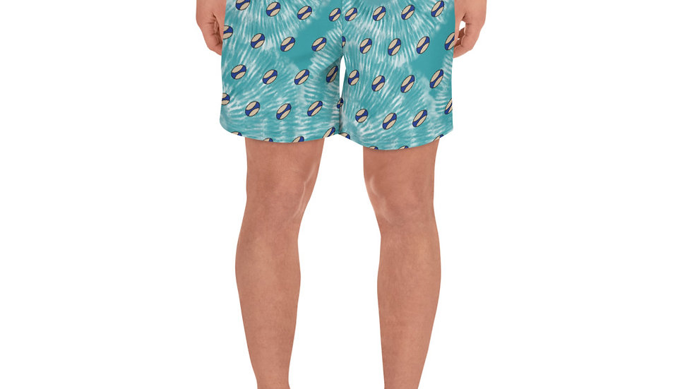 Tie Dye Ball Pattern Men's Athletic Long Shorts
