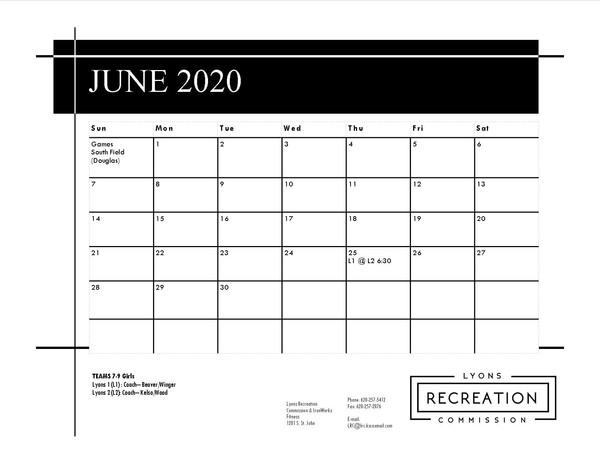 7-9 Girls '20 (June)