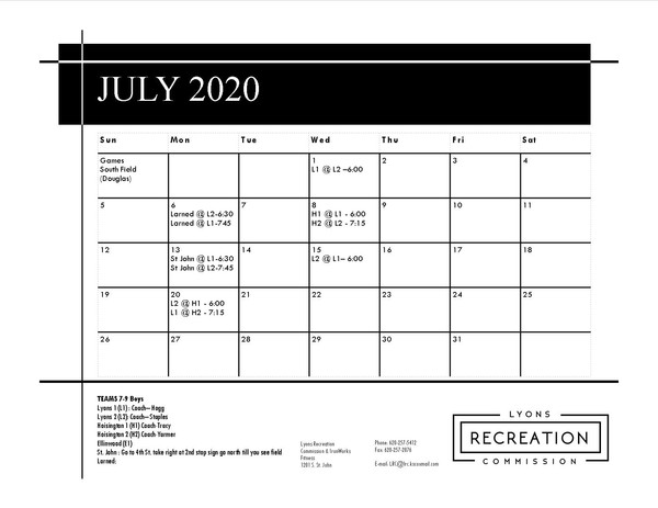 7-9 Boys '20 (July)