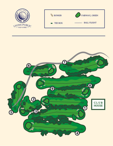 Golf Course Map - Full color
