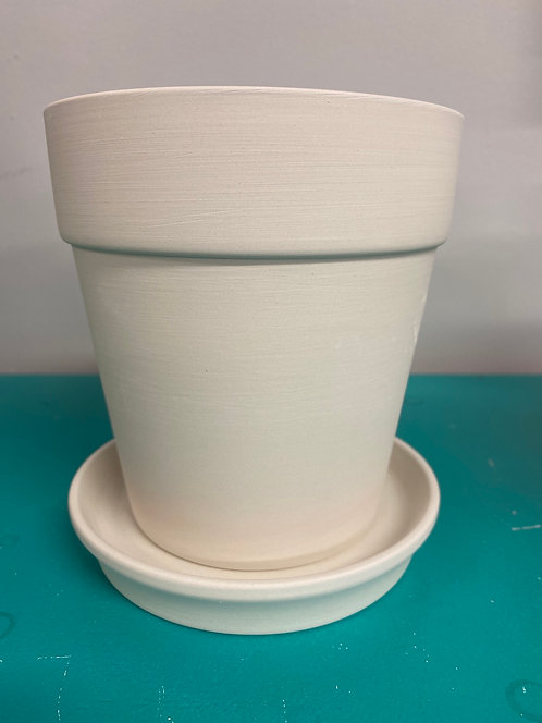 Small Planter with Plate