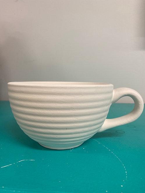 Ribbed Latte Mug