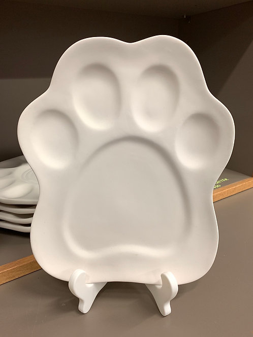 Paw Print Plate
