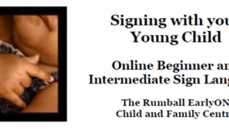 Signing with your Young Child | Free Program