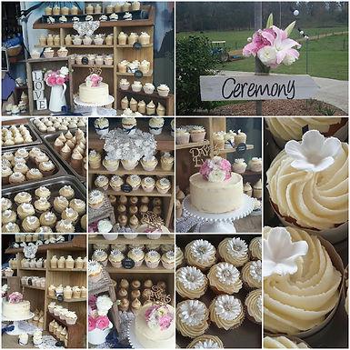 wedding cup cake display