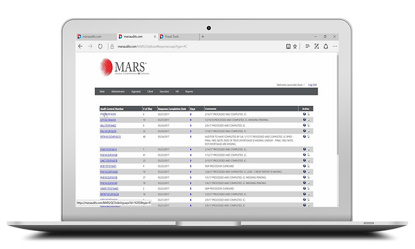 Computer showing MARS Client Response