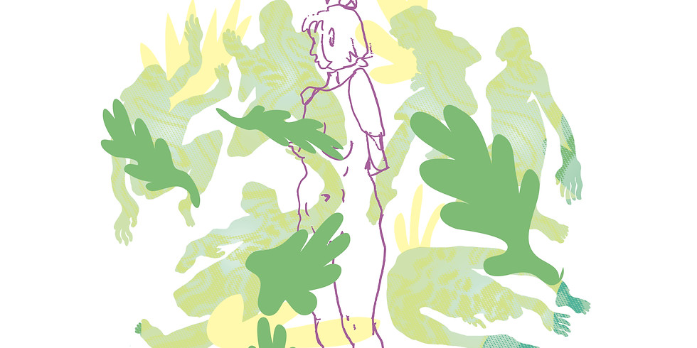 People and Plants. A Garden Life Drawing Session.