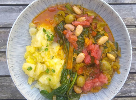 Chard and Chick Pea Stew