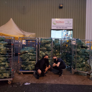 Cabbage drop off at Fareshare