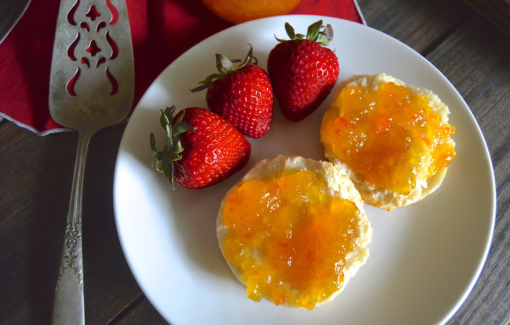 Orange Marmalade on a Biscuit