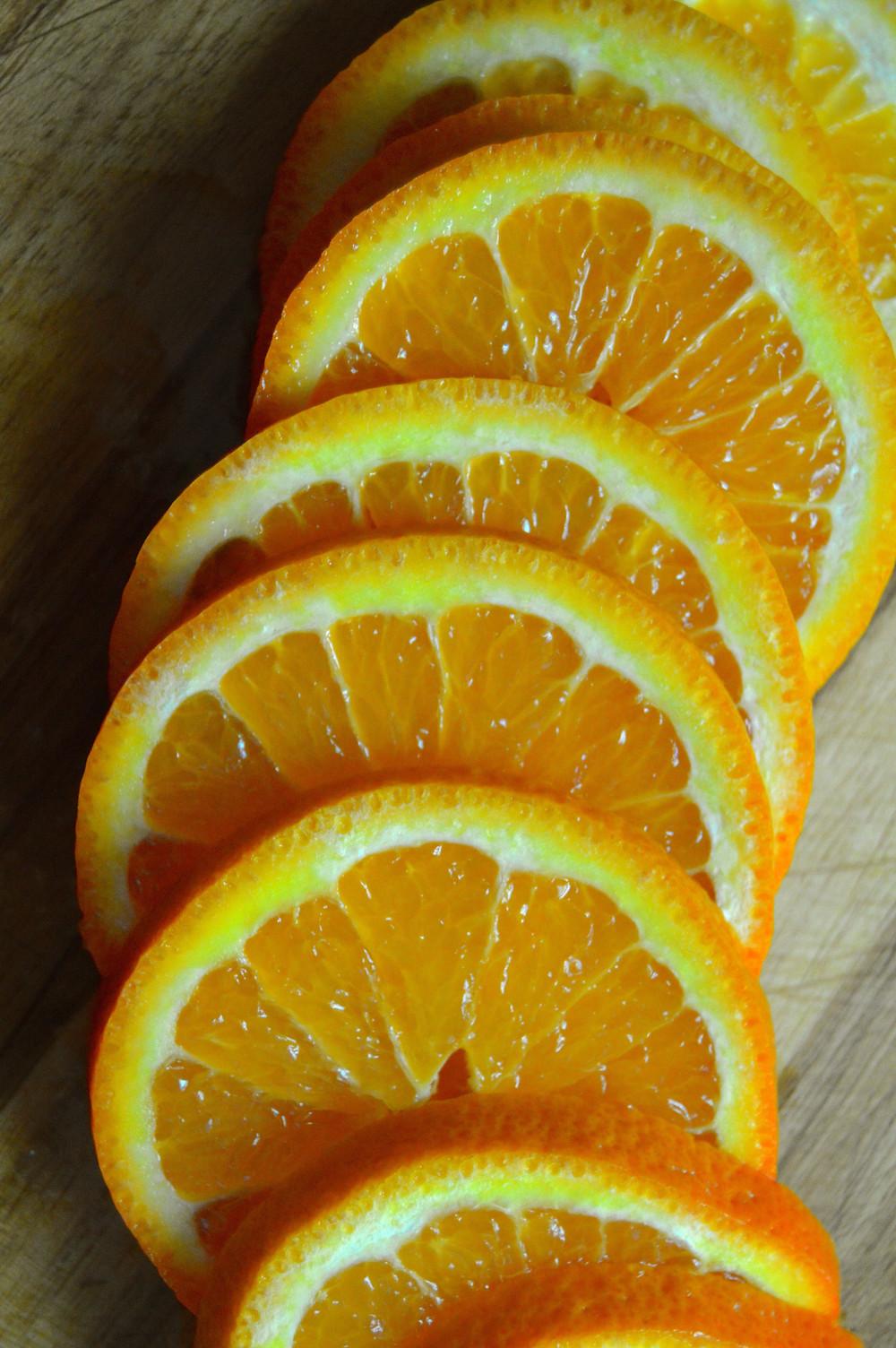 Sliced Honeybell Orange