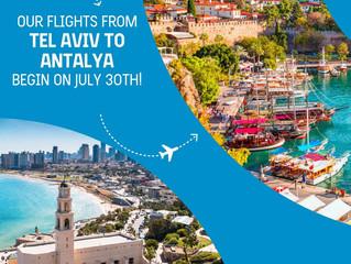 Türk Hava Yolları Tel Aviv-Antalya hattını açtı