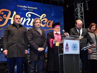 """Beyoğlu'nda """"Hanuka Bayramı"""" kutlandı"""