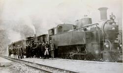 Влак с локомотив 503.76 на Долене