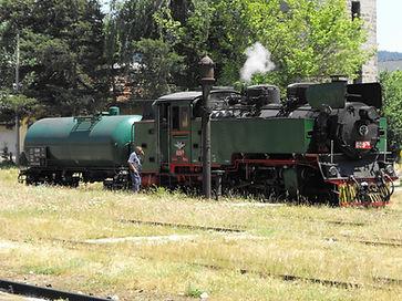 609.76 локомотив парен теснолинейка септември добринище гара Велинградбдж