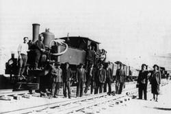 Работен влак на гара Аврамово