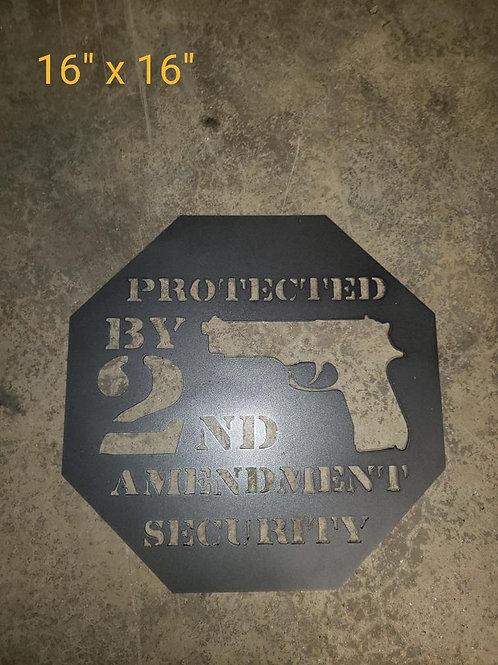 2A Steel Pistol Sign