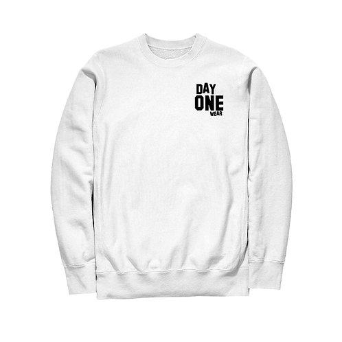 White Day One Wear Crew Neck Sweatshirt