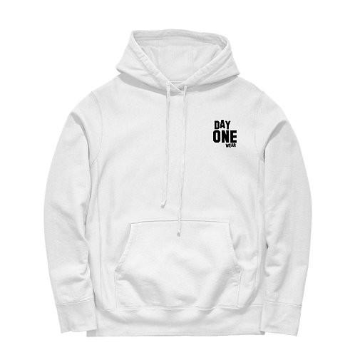 White Day One Wear Hoodie