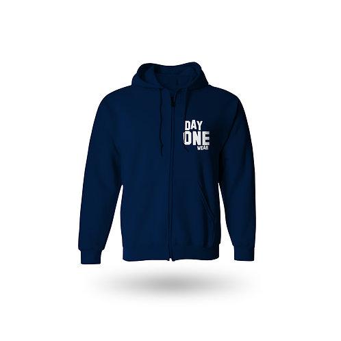 Navy Blue Day One Wear Zipper Hoodie