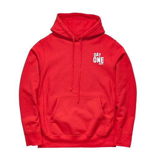 Red Day One Wear Hoodie