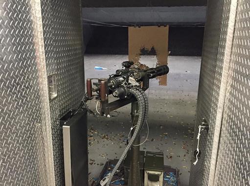 Minigun в тире Лас-Вегаса
