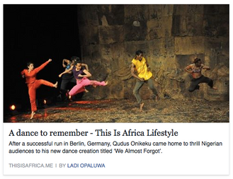 A dance to remember - This Is Africa Lifestyle