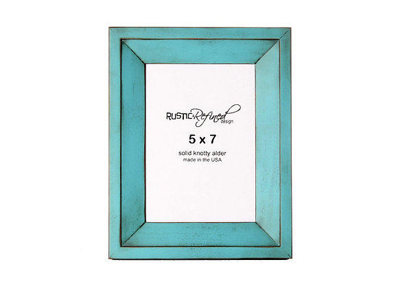5x7 Haven picture frame - Turquoise