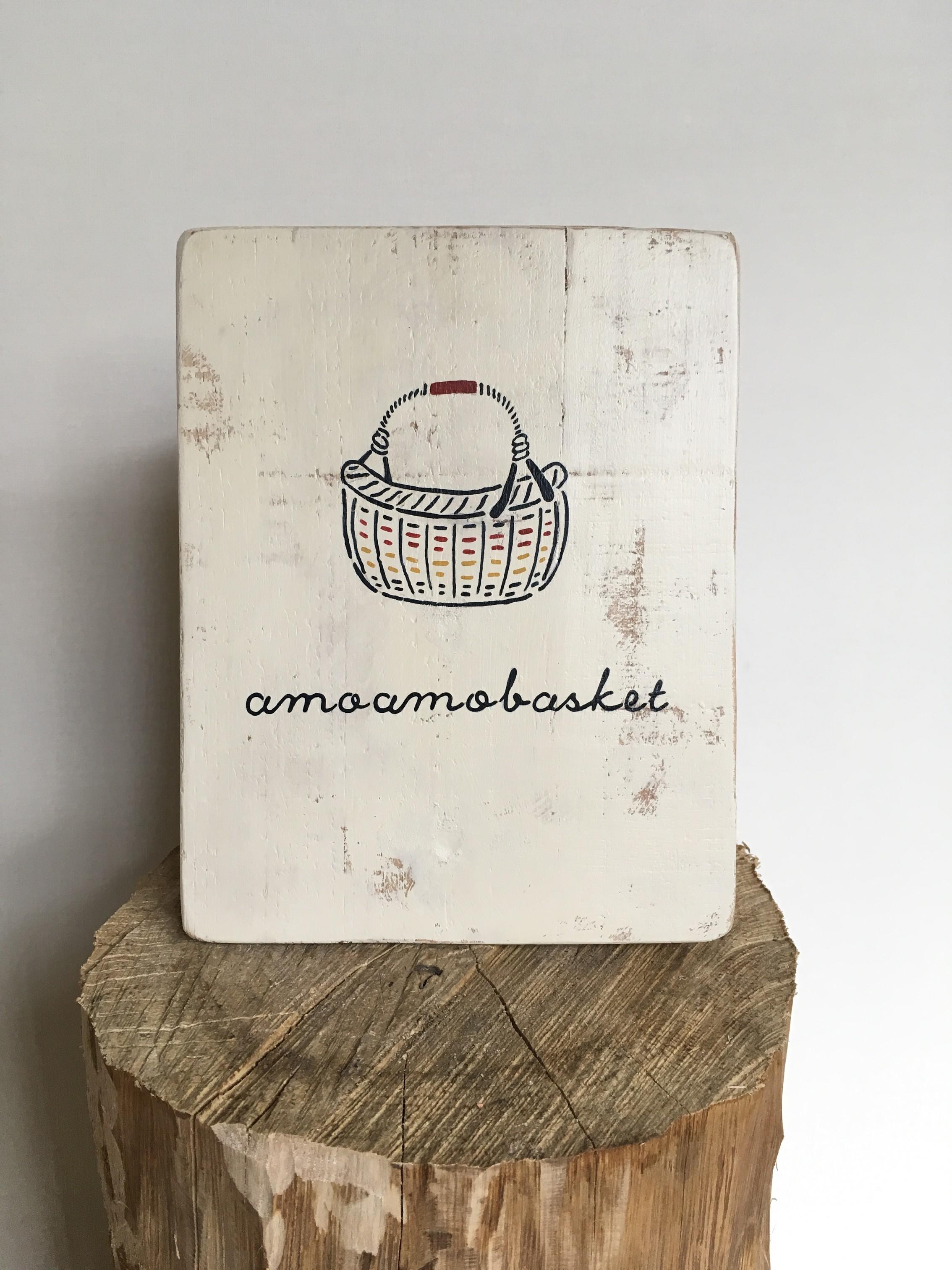 amoamobasket 出店用サイン