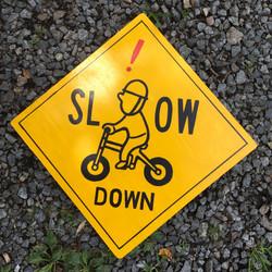特注/自転車注意サイン