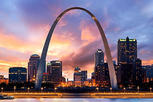 sunset--the-gateway-arch--st-louis--miss