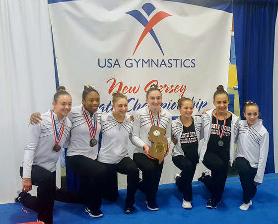 North Stars Level 9 and 10 Gymnasts Capture First Place at NJ State Championships