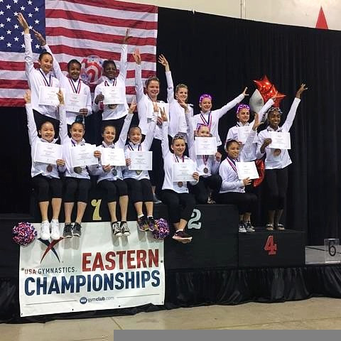 Eight North Stars Gymnasts Compete at 2017 Level 9 Eastern National Championship