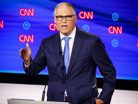 Governor Jay Inslee has Dropped out of the 2020 Presidential Debate. Will run for 3rd Term for Gov.