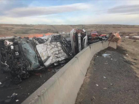 A Semi collision is blocking  both lanes of the 17 Highway north of Mesa
