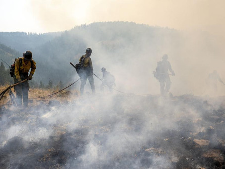 VIDEO: Thousands of firefighters battle big blazes across the West Coast