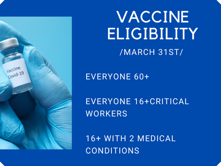 Next COVID-19 vaccine tier takes effect tomorrow March 31st adding 2 million eligible WA residents