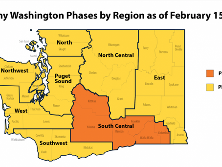 North Central Washington Region has met COVID-19 requirements to advancing to Phase 2 this weekend