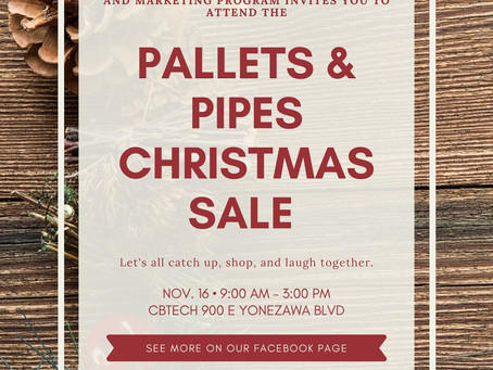 CBTech's Pallets & Pipes student store to host Christmas sale with P.E.O Scholarships Saturday